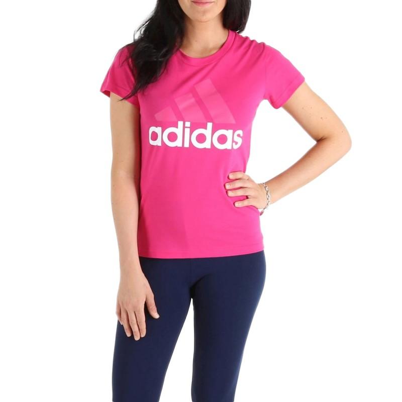 T Shirt Rose Femme Adidas pas cher | Espace des Marques