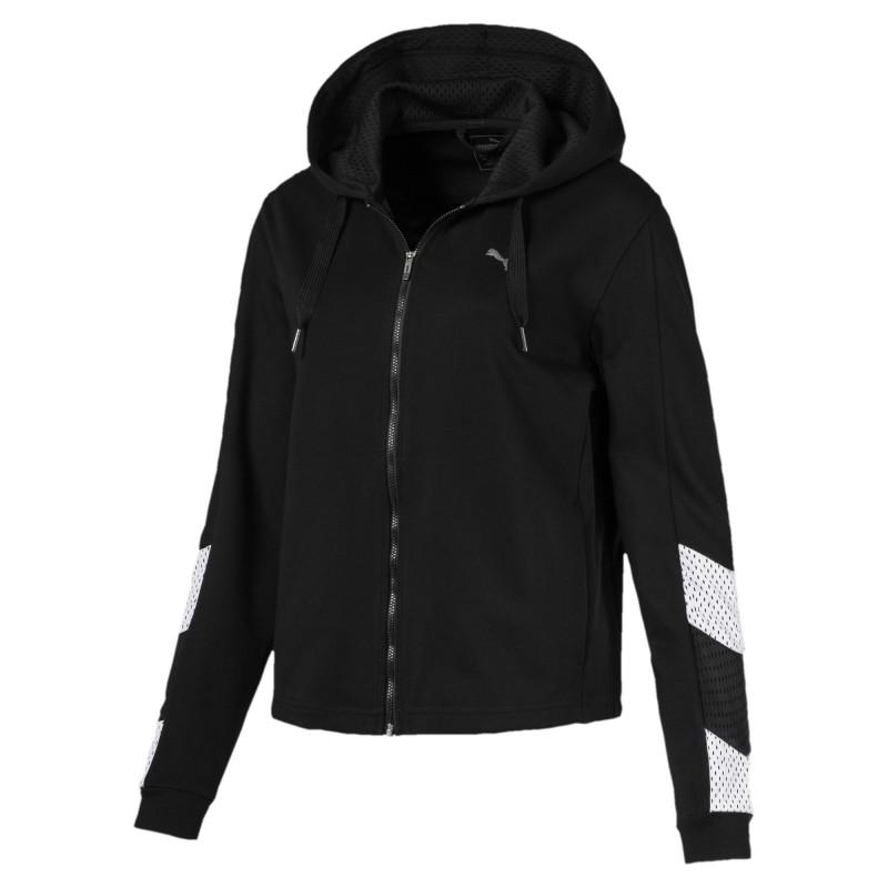 Acheter Sweat zippé noir femme Puma Ace pas cher | Espace des Marques