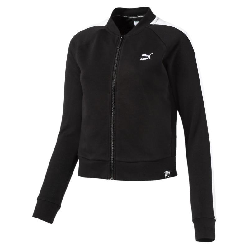 Acheter Sweat zippé noir femme Puma Archive pas cher | Espace des Marques
