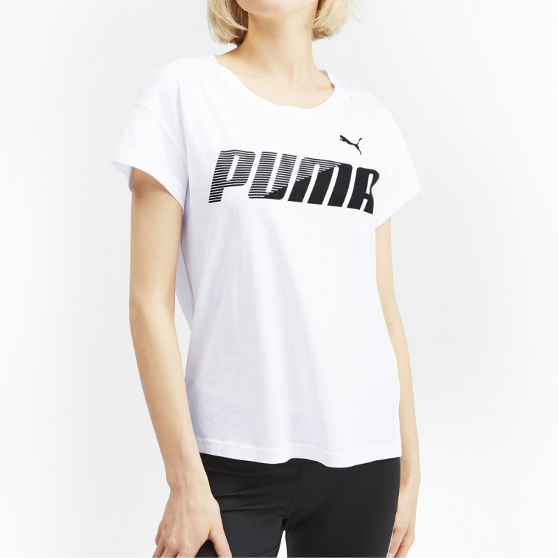 Acheter T shirt blanc femme Puma Modern Sport | Espace des Marques