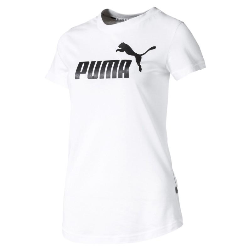 Acheter T shirt blanc femme Puma Amplified pas cher | Espace des Marques