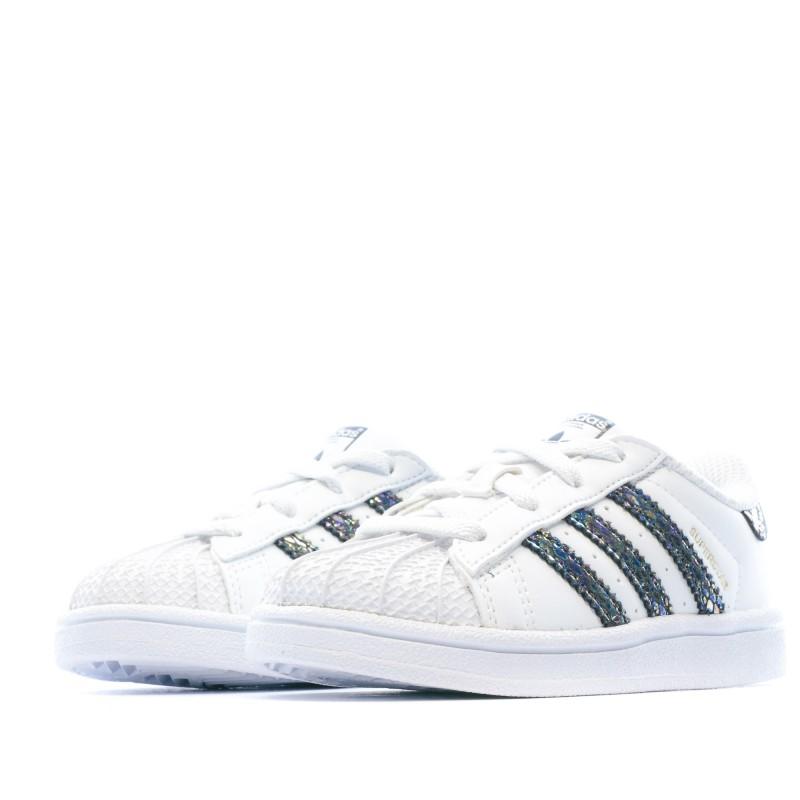 Superstar Metallic Snake Baskets Blanc Junior Adidas