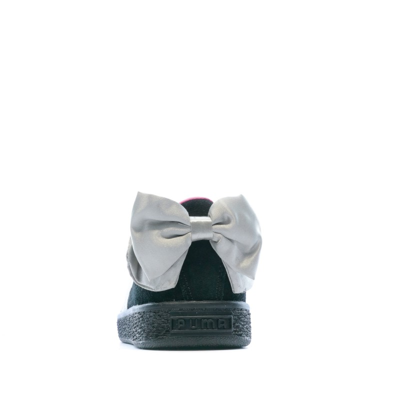 Chaussure Basket Suede Bow pour fille, Gris, Taille 35.5