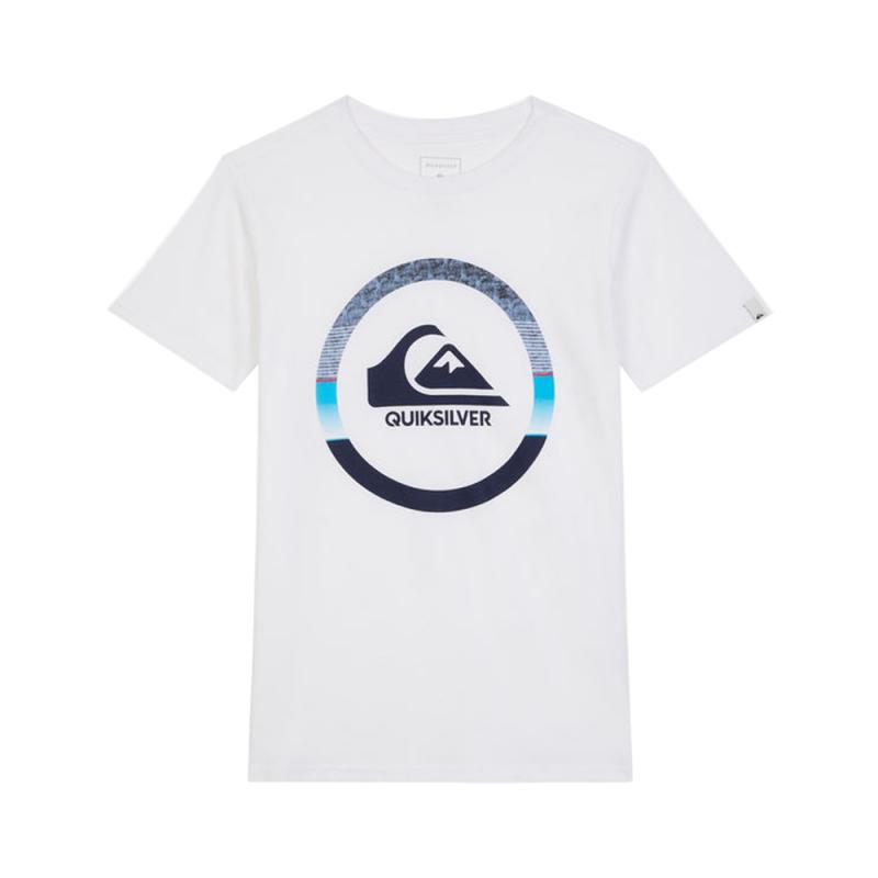 T Shirt Blanc Garçon Quiksilver GET BUZZY pas cher| Espace