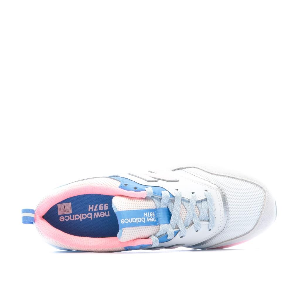 New Balance 997 Baskets blanc/bleu/rose pas cher   Espace des Marques