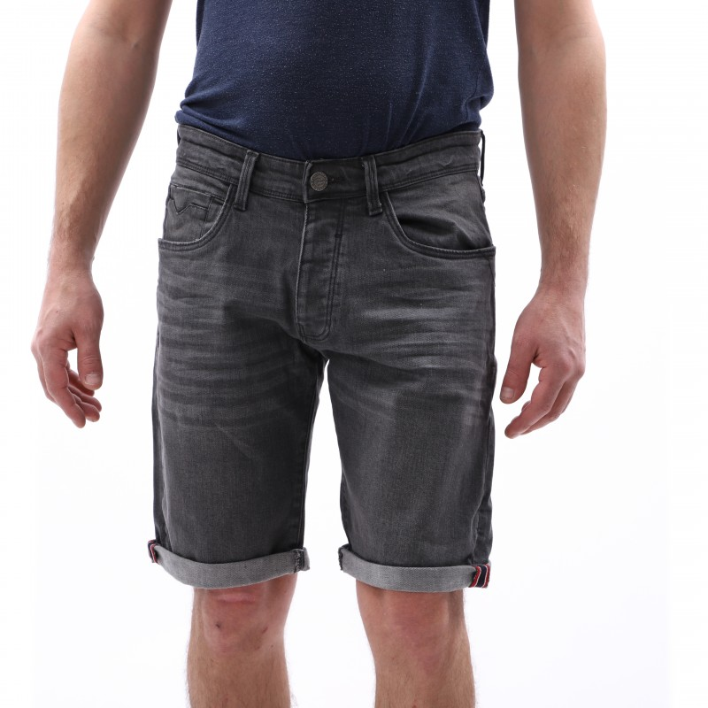 Bermuda jean gris homme pas cher | Espace des Marques