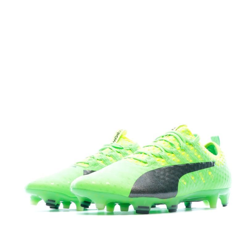 Chaussures de foot vert homme Puma evoPOWER   Espace des Marques