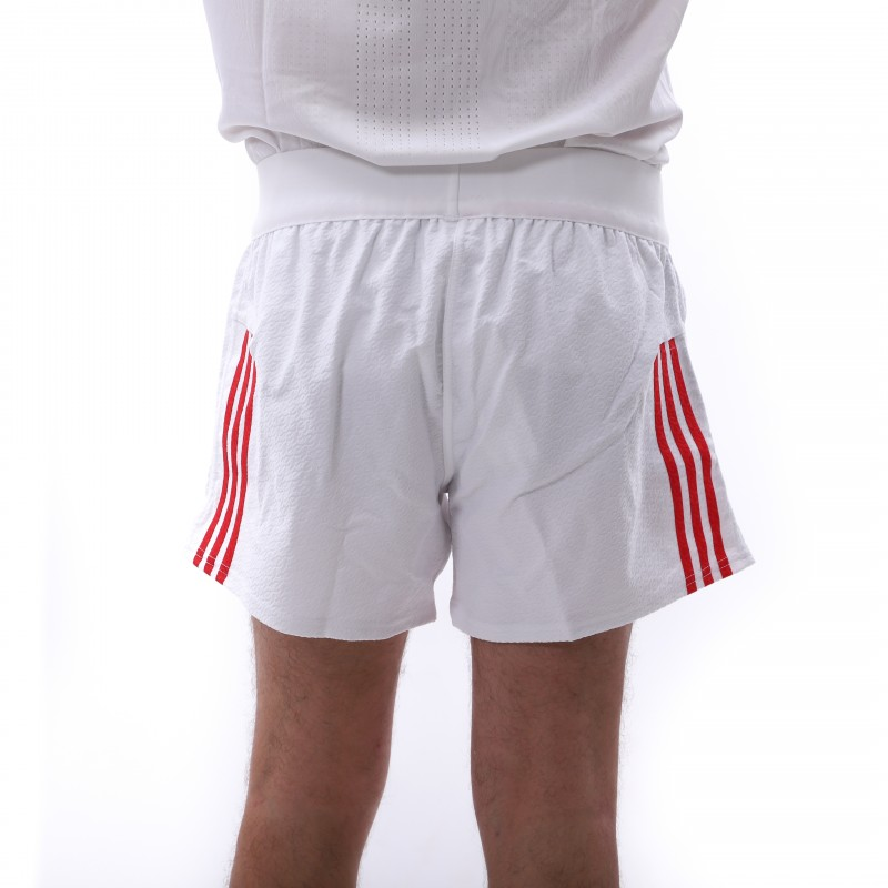 Achat FFR Short Rugby Blanc Homme Adidas pas cher | Espace des Marques