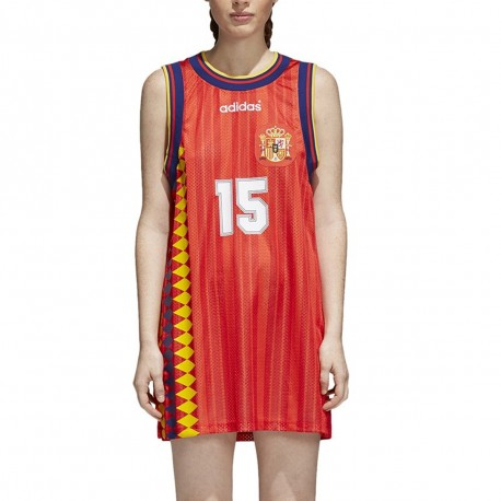 Espagne Robe maillot rouge femme Adidas