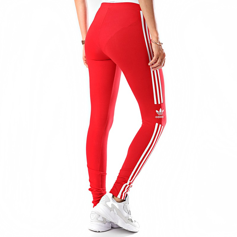 Legging Rouge Femme Adidas Trefoil Tight Pas Cher Espace Des Marques