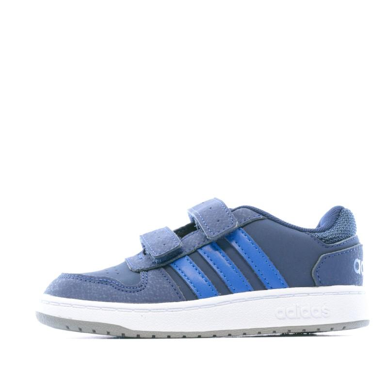 Achat Baskets bleu bébé Adidas Hoops pas cher | Espace des Marques