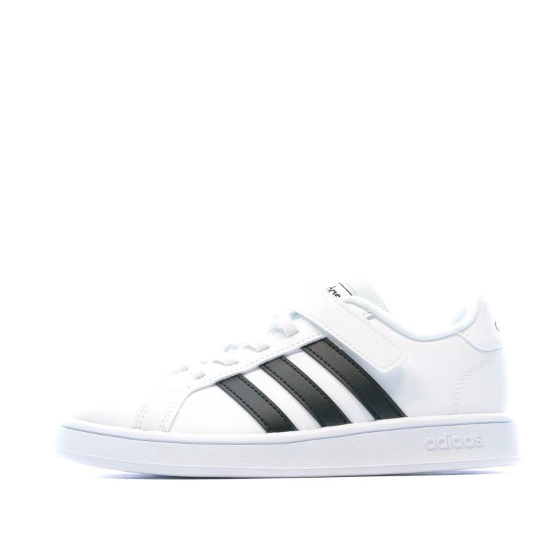 Baskets blanches FilleGarçon Adidas pas cher | Espace des Marques