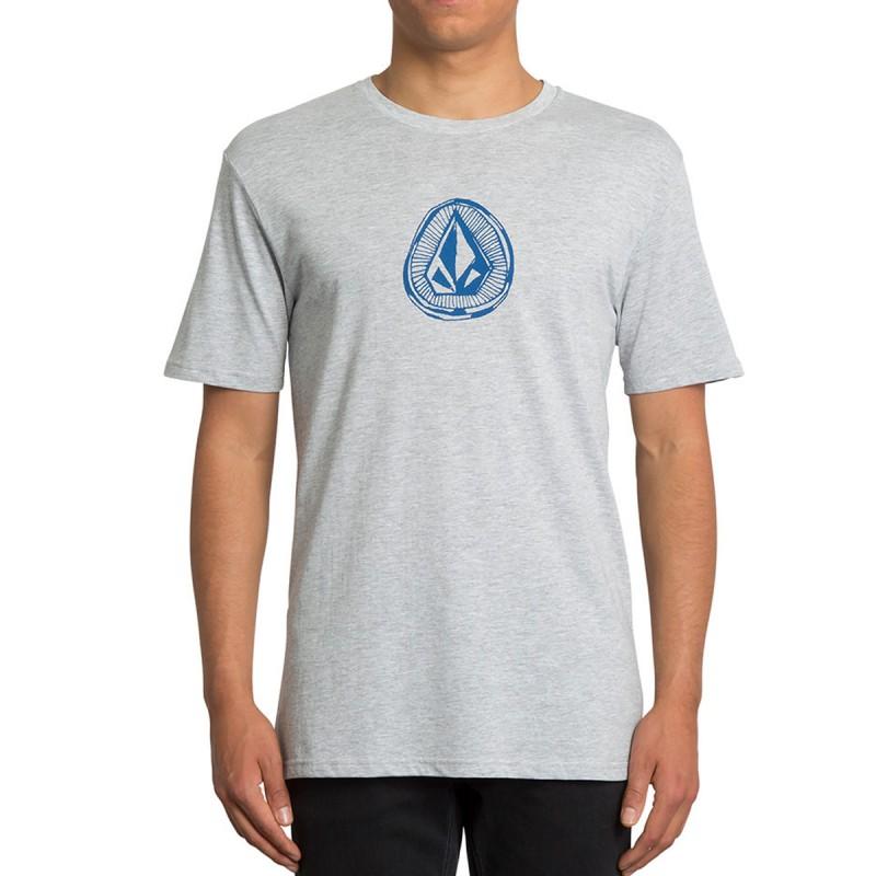 T-shirt Gris chiné Homme Volcom Stone pas