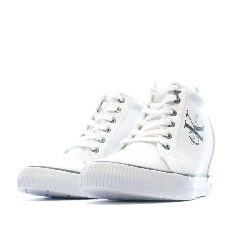Baskets compensées Blanc Calvin Klein pas cher | Espace des Marques