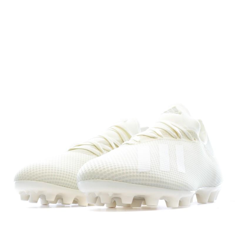 X 18.3 AG Chaussures de foot écru Adidas pas cher   Espace des Marques