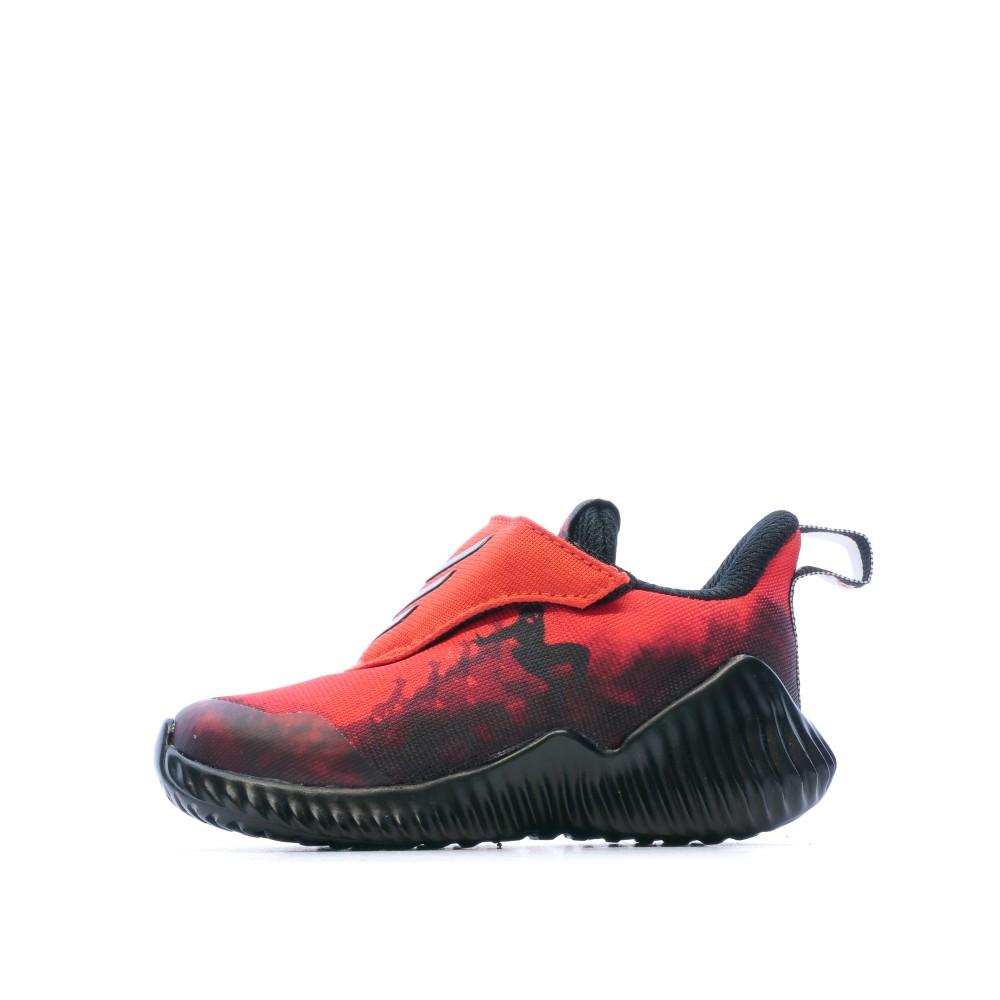 Baskets rouge bébé Adidas Spiderman FortaRun | Espace des Marques
