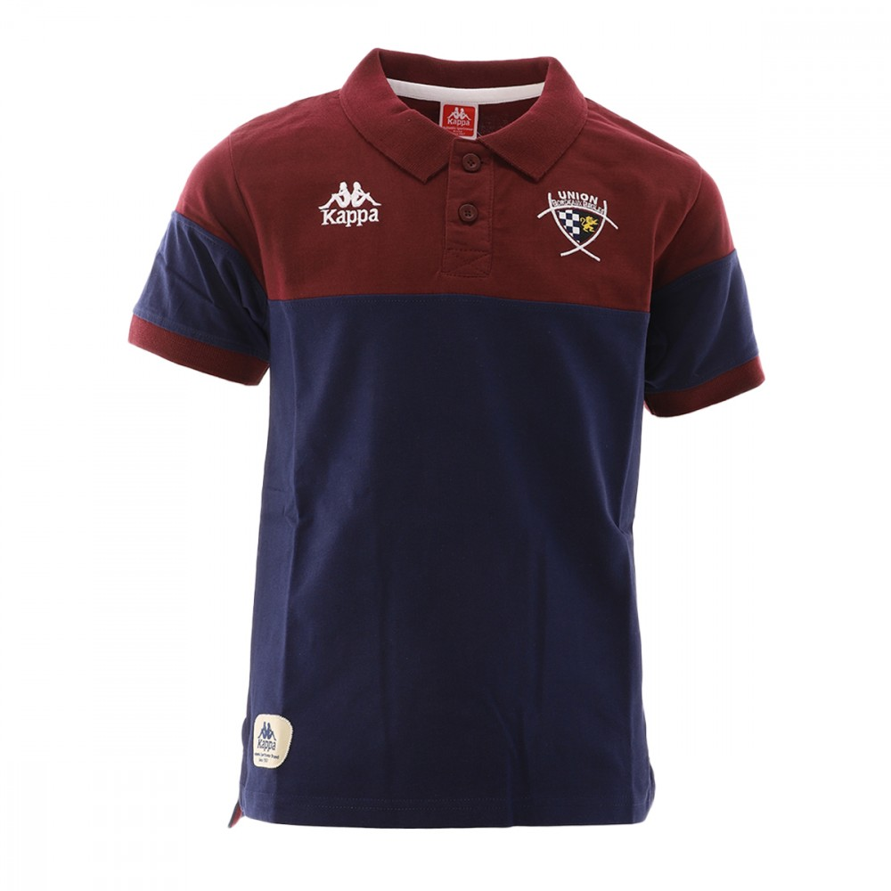 UBB Bordeaux Polo Rugby Marine et bordeaux Garçon Kappa pas cher