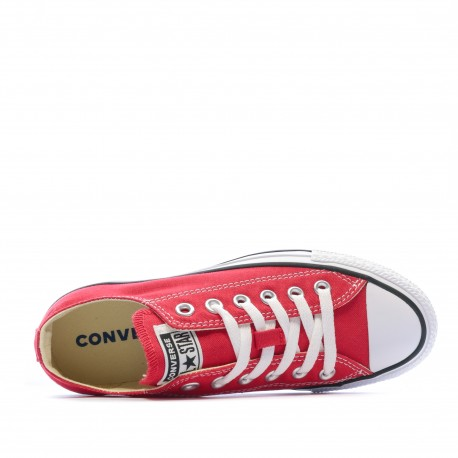 All Star Baskets rouge homme/femme Converse dessus