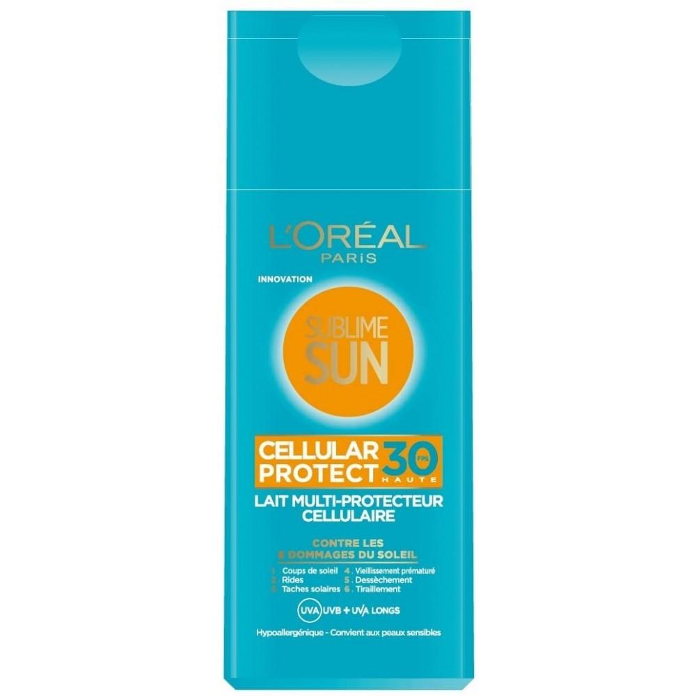 Lait multi-protecteur cellulaire Sublime Sun L'Oréal Paris FPS30