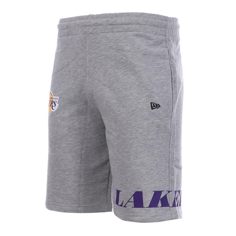 Short gris New Era Los Angeles Lakers Wrap Around | Espace des Marques