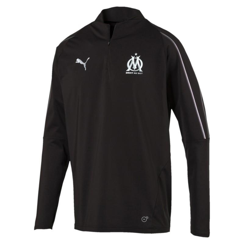 Olympique Marseille Sweat 14 zip Puma pas cher | Espace des Marques