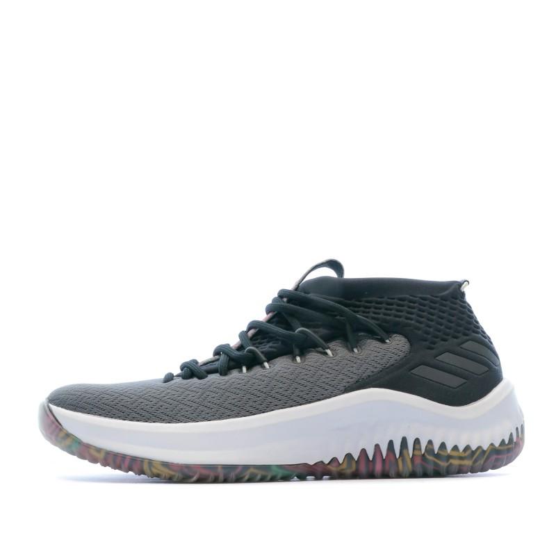 Chaussures basketball noirgris homme Adidas Dame 4 | Espace des Marques