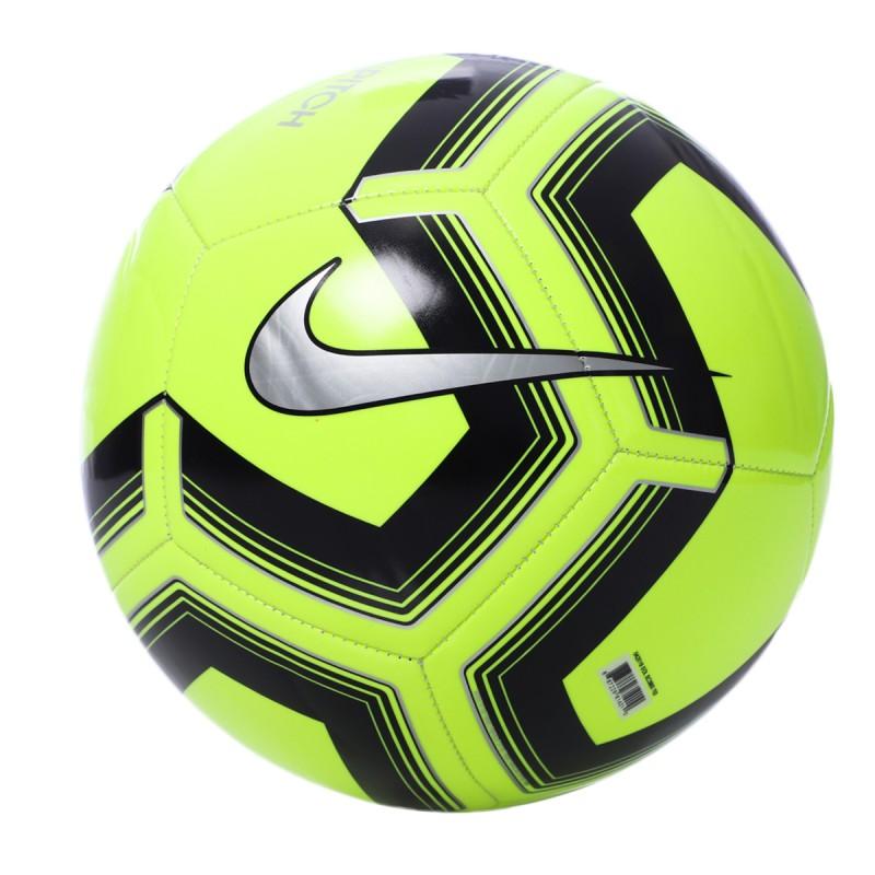 Ballon de foot jaune Nike Pitch 19 Training pas cher | Espace des Marques