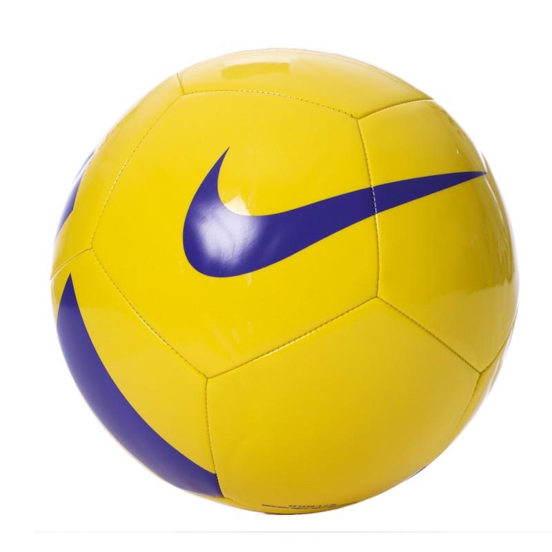Ballon de foot jaune Nike Pitch Team pas cher | Espace des Marques