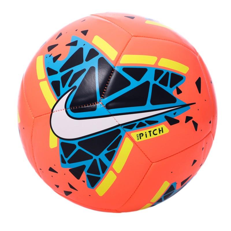 Ballon de foot orange Nike Pitch Training pas cher | Espace des Marques