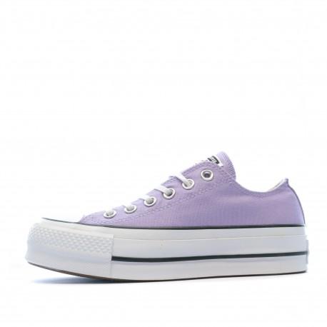 converse basse femme violette