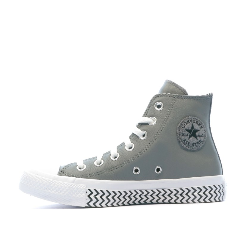 chaussure femme converse grise