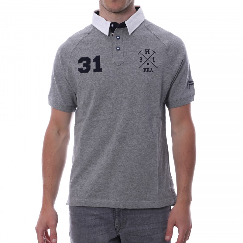 POLO Gris Homme HUNGARIA Sport Style Espace