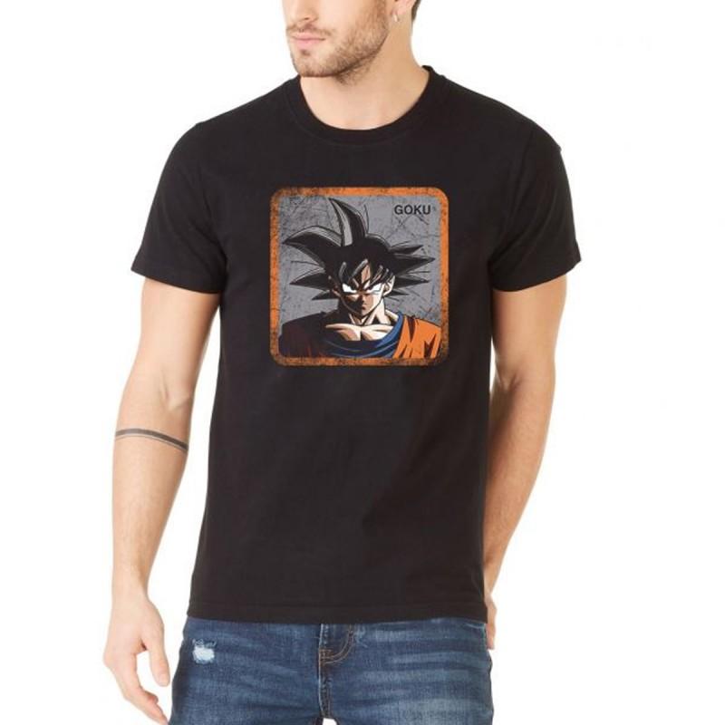 Dragonball Z à manches courtes rose Goku Noir Adulte tee-shirt Homme