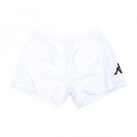 Racing 92 Short Blanc Homme KAPPA RYDER RUGBY Déstockage
