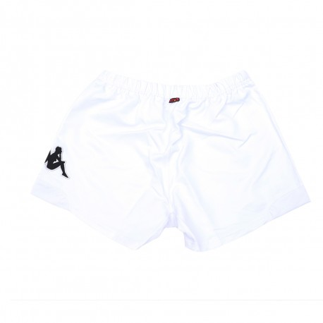 Racing 92 Short Blanc Homme KAPPA RYDER RUGBY Pas cher