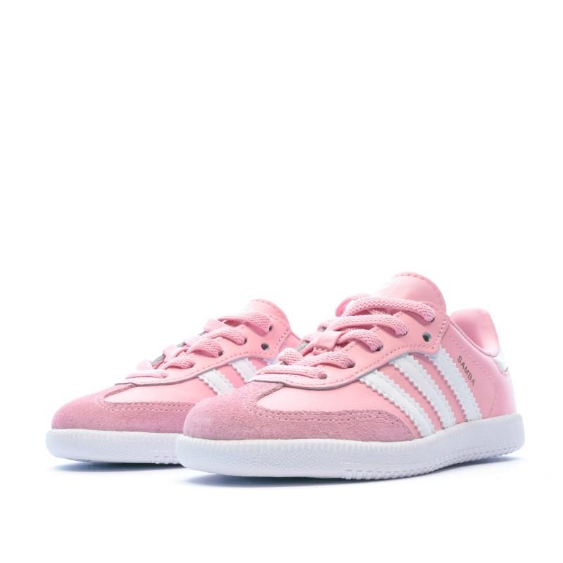Baskets rose fille bébé Adidas Samba pas cher | Espace des Marques