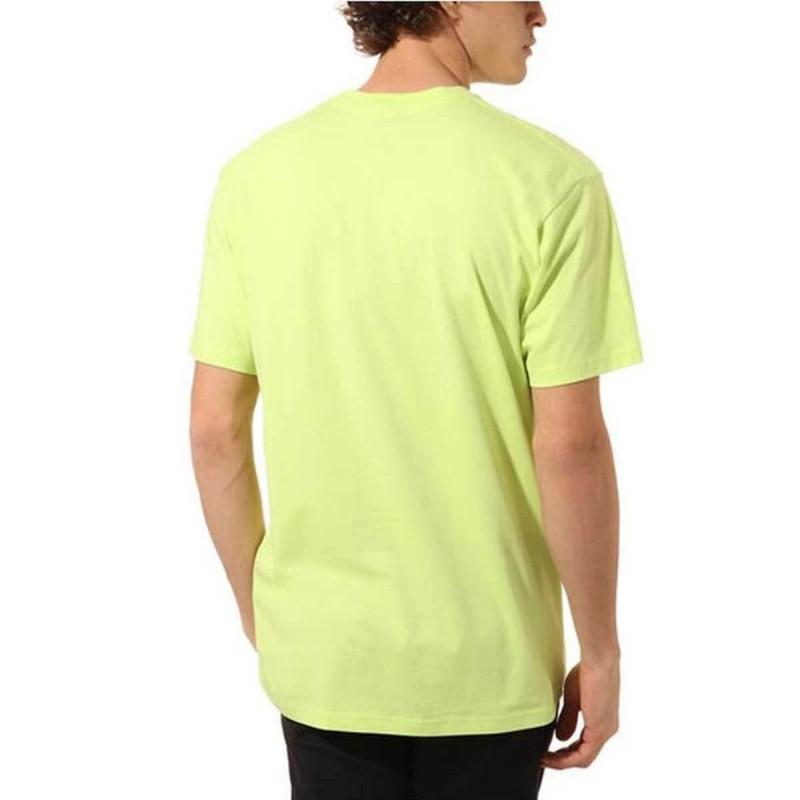 Tee Shirt Vert fluo Homme VANS LEFT CHEST LOGO|Espace des Marques