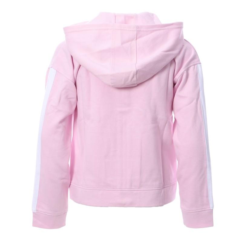 Sweat zippé rose fille Reebok pas cher | Espace des Marques