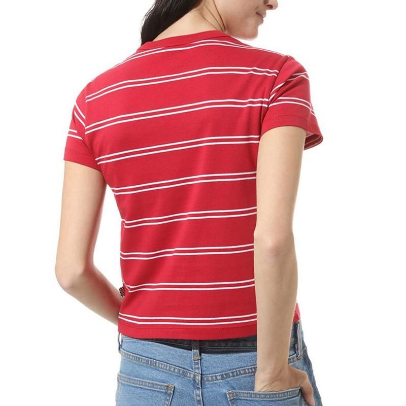 t shirt vans femme rouge