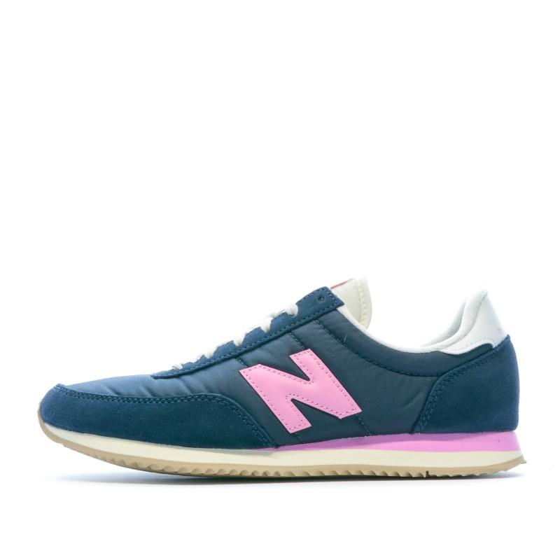 basket new balance femme bleu et rose