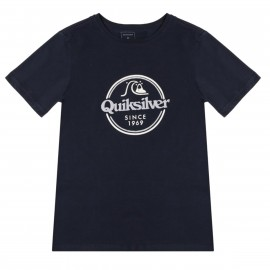 QUIKSILVER T-shirt penvil Messieurs Anthracite//Bleu Rayé Neuf