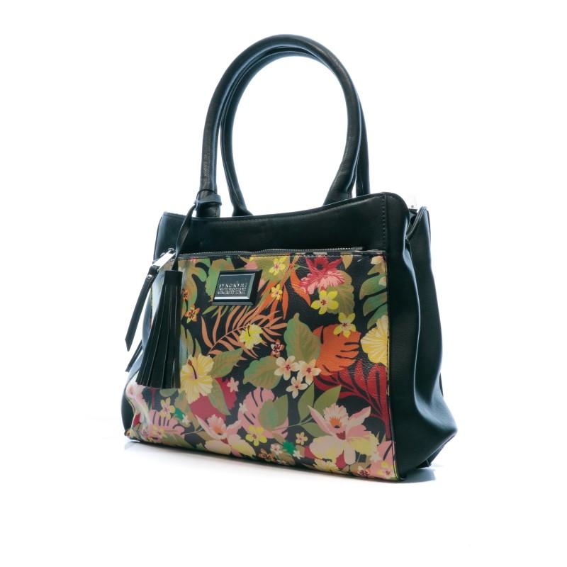 Sac fleuri noir femme Georges Rech Neo pas cher | Espace des marques