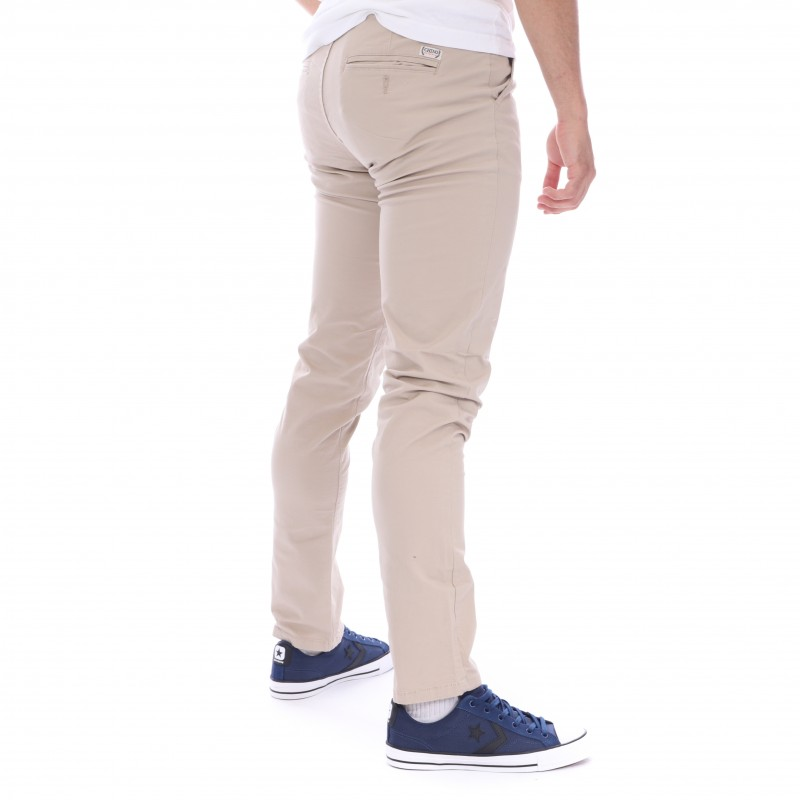 Pantalon Chino Sable CHINO AUTHENTIC Déstockage|Espace des Marques