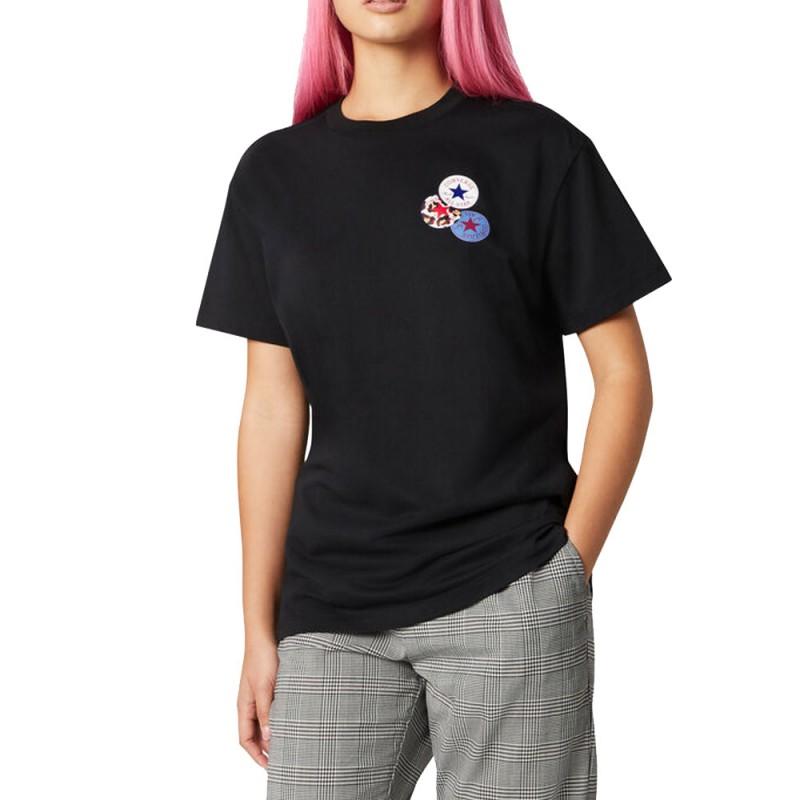 tee shirt converse femme noir