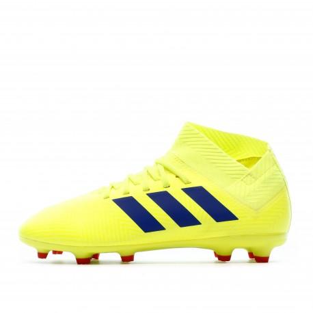 Nemeziz 18.3 FG Chaussures de foot jaune fluo Adidas | Espace des Marques