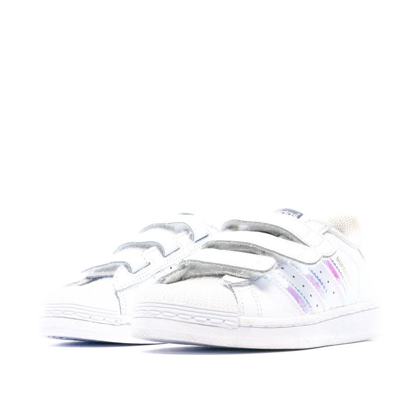 Superstar baskets blanches filles Adidas pas cher   Espace des Marques