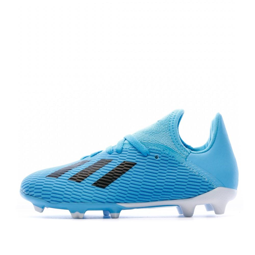 Chaussures de foot bleu enfant Adidas X 19.3 FG | Espace des Marques