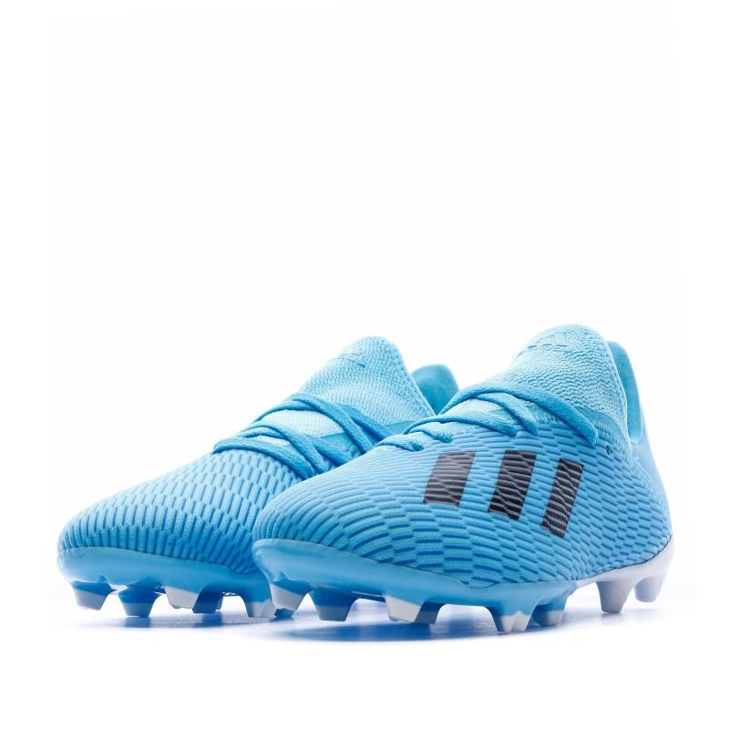 chaussure de football adulte x 19.3 adidas fg bleu