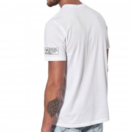 T shirt Blanc Homme Kaporal Knitted Short sleeved Déstockage