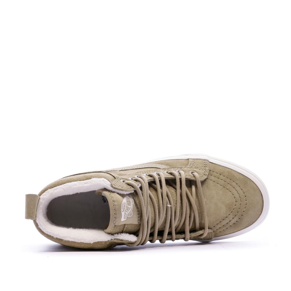 Baskets beige en daim femme Vans SK8-Hi pas cher | Espace des Marques